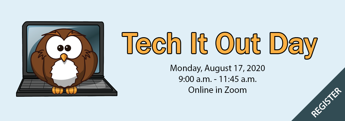Tech It Out Day banner registration