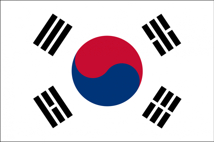 illustration of a south korean flag