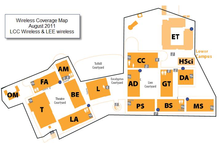 Leeward Community College Map Wireless Coverage Map | Information Technology Group Leeward Community College Map